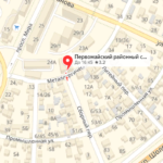 Первомайский суд Ростова на карте