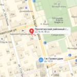 Пролетарский суд Ростова на карте