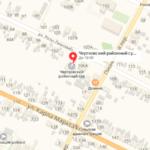 Чертковский суд на карте Участок 1