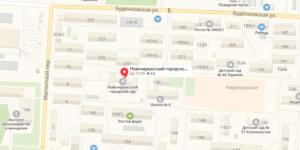 Новочеркасский суд на карте