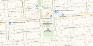 Пролетарский суд на карте