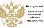 Миллеровский городской суд Ростовской области и Мировые судьи