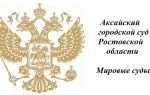 Аксайский городской суд Ростовской области и Мировые судьи
